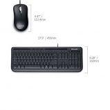 Teclado/Mouse Wired 600 USB Microsoft