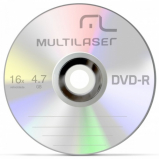 DVD-R Multilaser - Vel. 16x (4,7Gb)